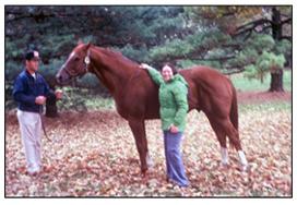 Kay Smith Artist Laureate of Illinois with Secretariat andGroom