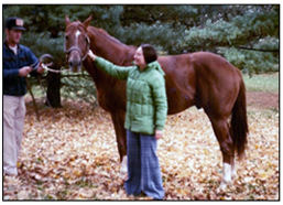 Kay Smith Artist Laureate of Illinois with Secretariat and Groom