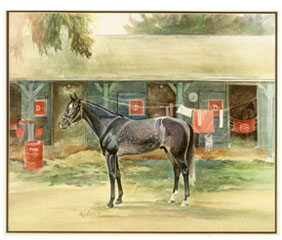 Water Color Art from Kay Smith Spectacular Bid Delaware Track