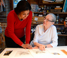Kay Smith Artist Laureate of IL - Tuskegee Airmen Redtails